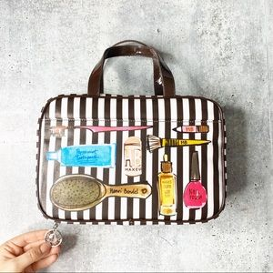 Henri Bendel make up cosmetic bag holder zip up
